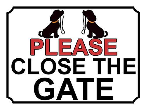 ゲートを閉じてください 金属板ブリキ看板注意サイン情報サイン金属安全サイン警告サイン表示パネル