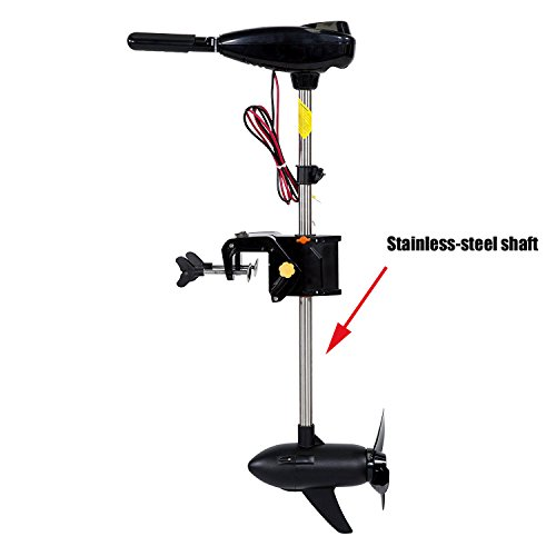 Unibest Vessels Real 90LBS Thrust Electric Trolling Motor for Fishing Boats Freshwater and Saltwater Use - Stainless-steel shaft