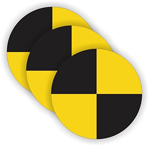 StickerDad Crash Test Dummy Symbol (3 PACK) vinyl Hard Hat Helmet decal - (size: 2