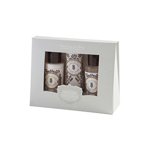 Panier Des Sens Lavender Essential Oils Travel Set, Body Lotion, Shower Gel, Hand Cream, Made in France