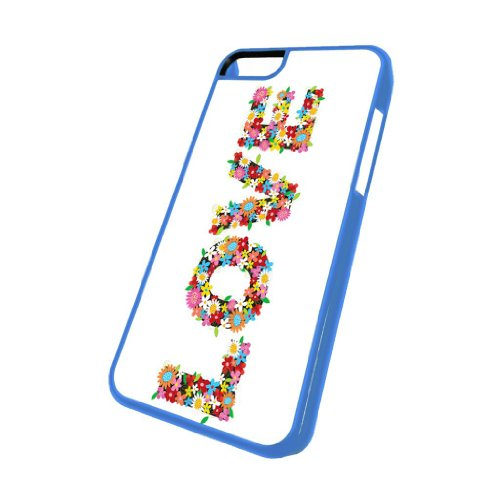 Love Flower Power - iPhone 5c Glossy Blue Case