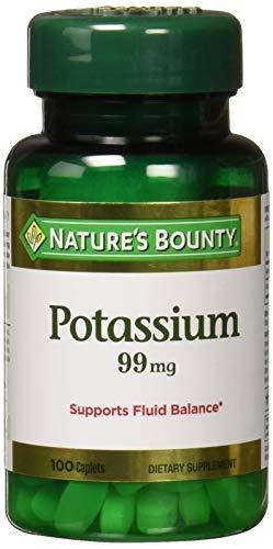 Natures Bounty Potassium Gluconate 99mg, 100 Caplets (Pack of 3)