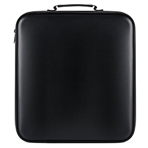 DVD Storage, COOFIT CD Case 160 Capacity CD Holder DVD Case CD Storage Plastic Protective CD Wallet (Black)