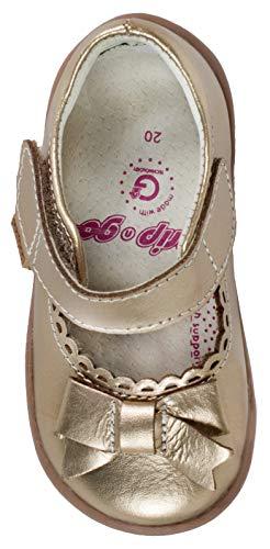 pediped Girls' Betty MJ Mary Jane, Champagne, 20 EU/5 E US Toddler