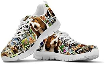 Owaheson Lace-up Sneaker Training Shoe Mens Womens Chihuahua Dogs and Their Bone Nameplates