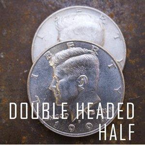 double sided coin half dollar head