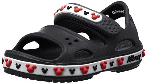 Crocs Crocband II Mickey PS Sandal (Toddler/Little Kid) (12, Black) by Crocs Crocband II