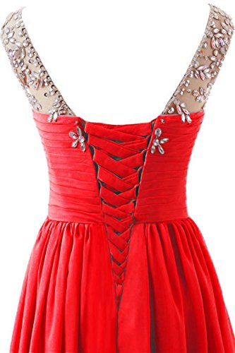 trapecio rojo Vantexi mujer para Vestido 34 fx5xHw87q