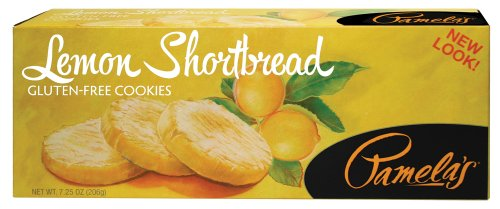 Pamela's ProductsGluten Free Shortbread, Lemon, 7.25-Ounce Boxes (Pack of (Brown Shortbread Cookies)