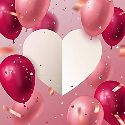 Póster de cumpleaños con globos de fondo para fotografía ...