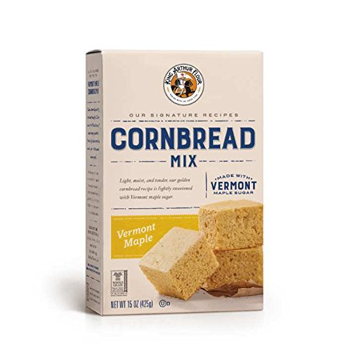 King Arthur Flour Vermont Maple Cornbread Mix - 15 OZ (425g), Bread Mix for Bread Machines or Oven Baked Bread