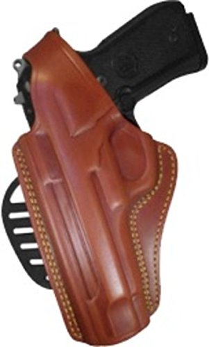 Gould & Goodrich 807-195LH Gold Line Paddle Holster - Left Hand (Chestnut Brown) Fits most full-size 1911-type pistols with 4.75 in. to 5.0 in. bbl incl. BROWNING Hi-Power; COLT Delta, Elite, Gold Cup, Gov't, 1911A1; KIMBER Custom, Target, Gold Match,