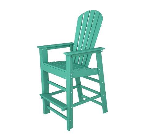 South Outdoor Bar Beach (POLYWOOD SBD30AR South Beach Bar Chair, Aruba)