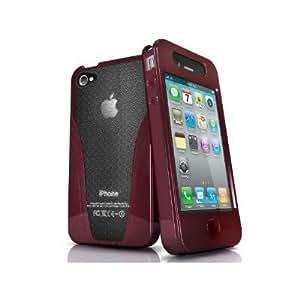 iSkin solo vu, iPhone 4/4S - Funda (iPhone 4/4S, Mano, bolsillo) Rojo