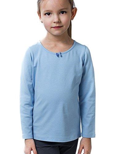 Petite Amelia Little Girls Long Sleeve Bow Tie T Shirt, Size 5, Light ()