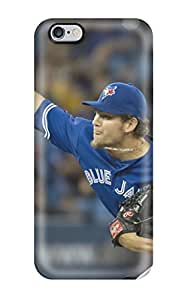 Iphone 6 Case Cover - Slim Fit Tpu Protector Shock Absorbent Case (toronto Blue Jays )