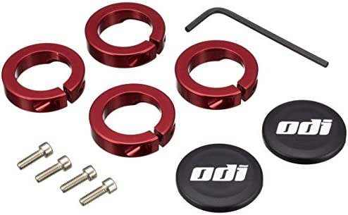 ODI Lock Jaw Clamps w// Snap Caps Red