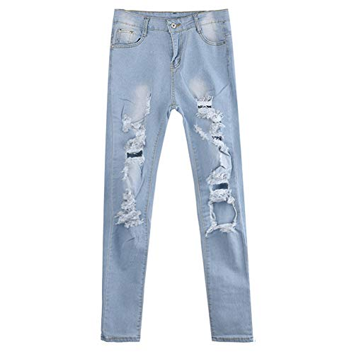 LiLiMeng Fashion Women Jeans Denim Bandage Female Solid High Waist Stretch Slim Loose Pencil Pants with Belt Pockets