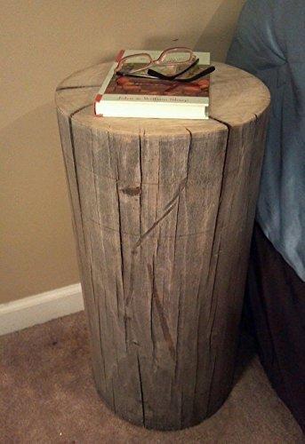 Rustic Weathered Gray Poplar Stump Table Bedside Table Sofa Table Bar Stool Stump Stool – 7-8 diameter Custom Heights Available – 8 -17 Tall