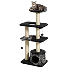 Midwest Home For Pets Feline Nuvo Tower Cat Tree Furniture, 22 by 15 by 50.5-Inch
