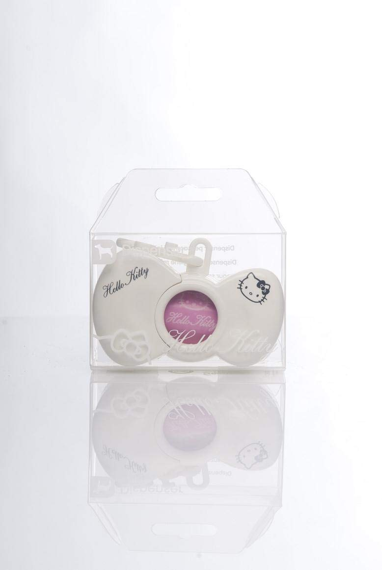 /Dispensador de bolsas ramasse-crottes en forma de nudo Hello K color blanco tiendanimal/