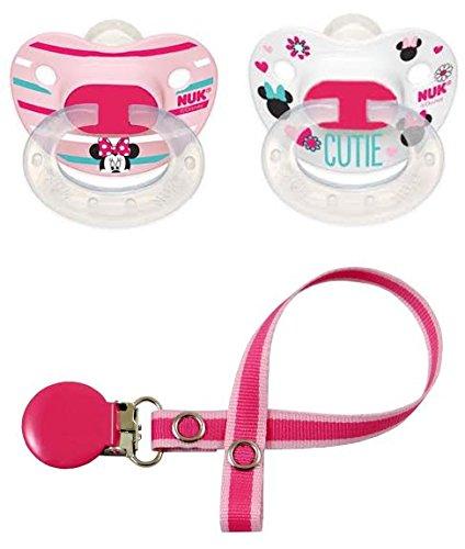 NUK Niñas - Minnie Mouse Disney - Juego de chupetes Chupete ...