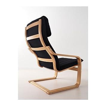 IKEA POANG - sillón, chapa de roble, Alme negro: Amazon.es ...