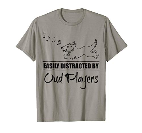 Running Dog Easily Distracted by Oud Players Music Notes T-Shirt