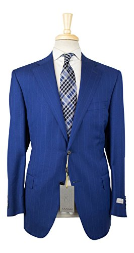Canali 1934 'Travel' Blue Wool 2 Button Suit Size 54/44 for sale  Delivered anywhere in USA
