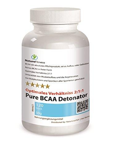 Pure BCAA Detonator Hardcore Anabolic Amino Protein Aminosäuren 120 Kapseln