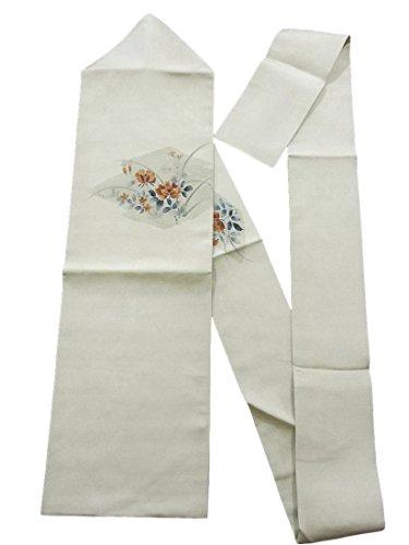 間違えた怠けたスリーブリサイクル 名古屋帯 松皮菱に花模様 正絹