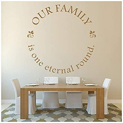 Amazon com: banytree Our Family Eternal Wall Sticker Family