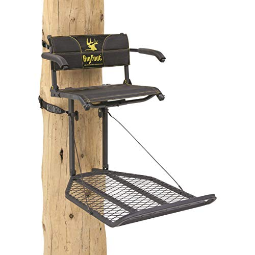 Rivers Edge RE556, Big Foot TearTuff XL Lounger, Lever-Action Hang-On Tree Stand with TearTuff Flip-up Mesh Seat, Oversized 37.5' x 24' Platform, Arm/Foot/Back Rests