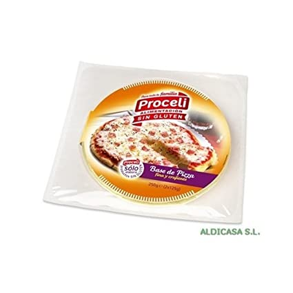 Base de Pizza Sin Gluten 2 unidades de Proceli: Amazon.es ...