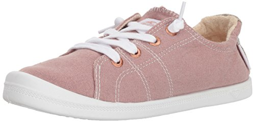Roxy Women's Bayshore Slip on Shoe Sneaker, Rose, 7
