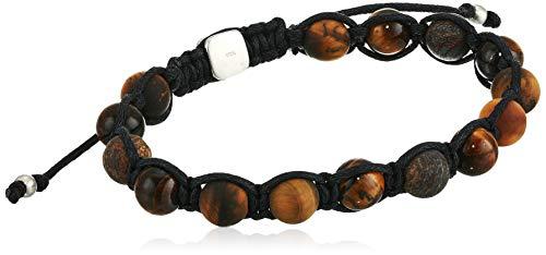 Fossil Men's Tiger's Eye and Bronzite Bangle Bracelet (Bracelet Fossil For Man)