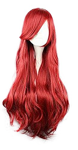 [Mtxc Disney Cosplay Princess Ariel/The Bounty Hunter Wig Red] (Ariel Dress For Adults)