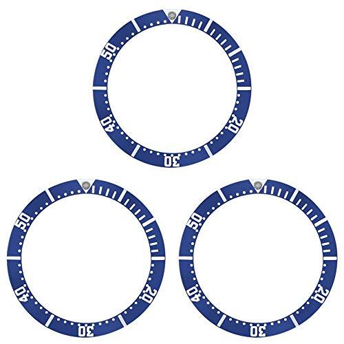 3 BEZEL INSERT FOR 41MM OMEGA SEAMASTER WATCH FIT JAMES BOND 007 BLUE COLOR