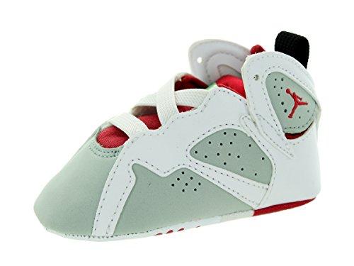 Nike Jordan Toddlers Jordan 7 Retro Gift Pack White/True Red/Light Slvr/Trmln Basketball Shoe 2 Infants US - Jordan Shoes Pack