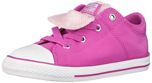 (Converse Girls Infants' Chuck Taylor All Star Maddie Metallic Slip On Sneaker, Active Fuschia/Pink Foam/White 7 M US)