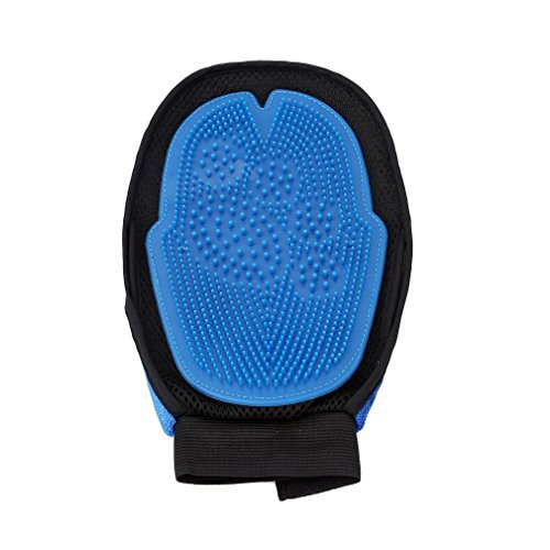 Hehing Creative Pet Double-sided Grooming Glove Hair Remover Brush Glove Clean Massage Gloves