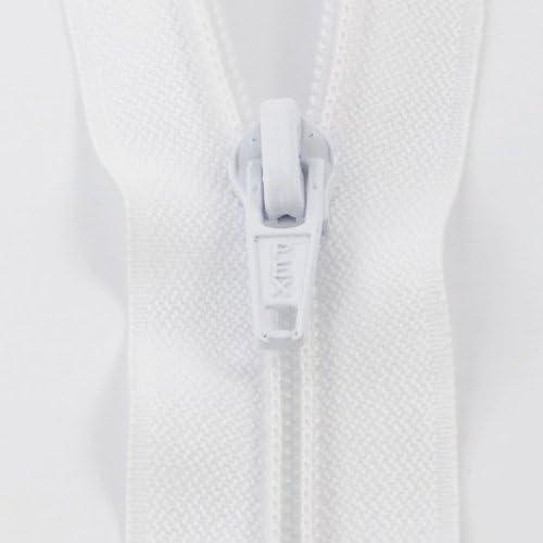 White 1501 Nylon Open End Zip 76cm Nova S5//30//WHT 30in
