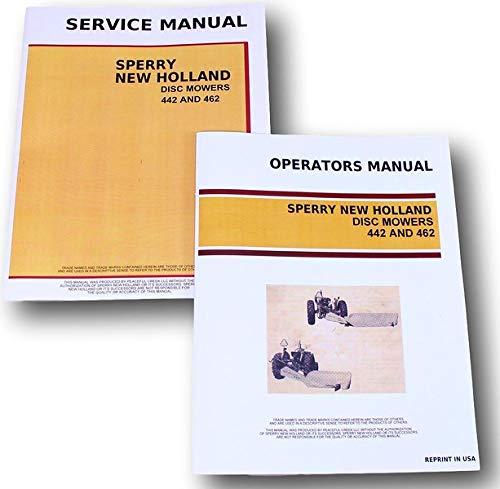 Mower Owners Manual - Set New Holland 442 462 Disc Mowers Service Operators Owners Repair Shop Manual
