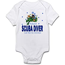 CafePress Future Scuba Diver Like Grandpa Body Suit - Cute Infant Bodysuit Baby Romper