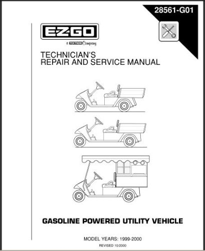image unavailable  image not available for  color: ezgo 28561g01 1999-2000  technician's repair and service manual for gas workhorse