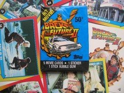 Back to the Future II Collectible Trading Card Packs (9 Movie Cards, 1 Sticker, 1 Stick Buble - Gum Trading Bubble Cards