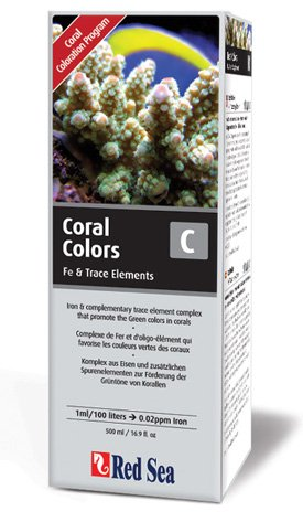 Red Sea Reef Colors C Supplement (Iron/Trace Elements) - 500ml (Lab Red Reef Sea)