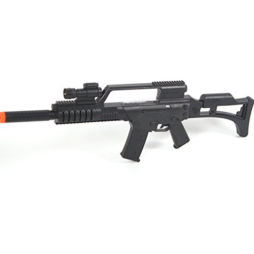 Assault Machine Gun Force Laser Sound Rifle with Infrared and Sound (Military Toy Guns)