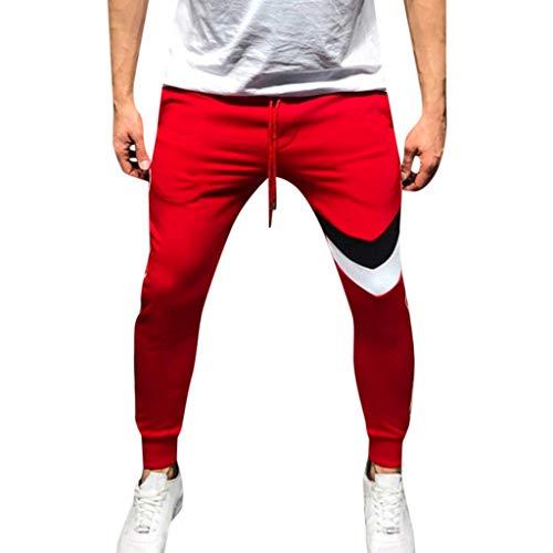 Ezekiel Walking Shorts - MIUCAT Mens Casual Outdoor Fitness Pants, Man Sports Running Drawstring Waisted Long Trousers Active Sweatpants Red