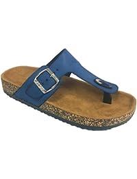 Women Casual Buckle Thong Strap Sandals Flip Flop Platform Footbed TRENDS SNJ SHOES(BIG SALE)